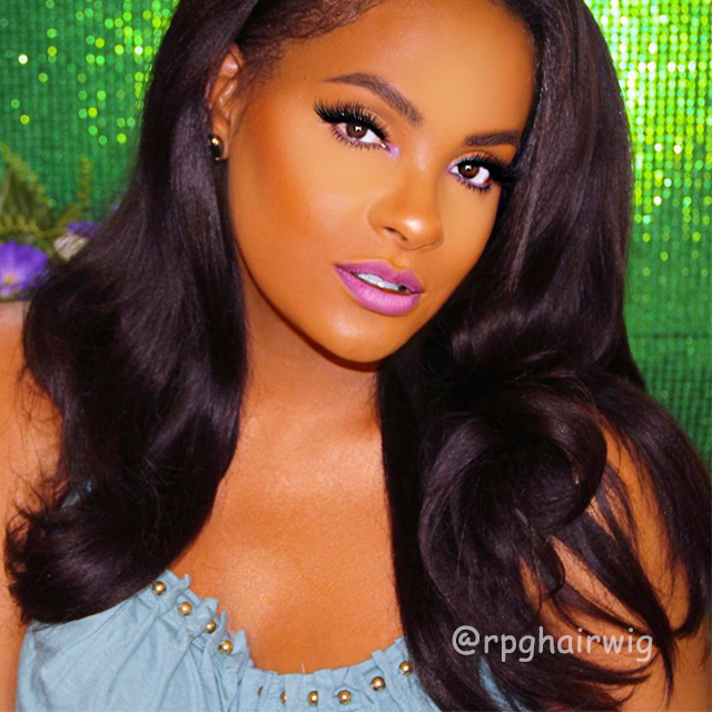 3 Bundles Yaki Indian Virgin Hair Weaves With A Lace Closure