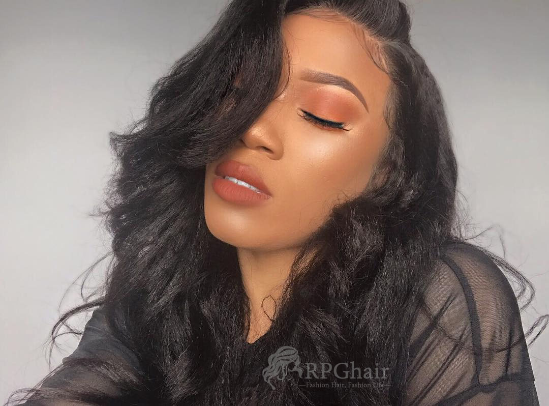 Affordable Indian Remy Hair Glueless Lace Front Wig