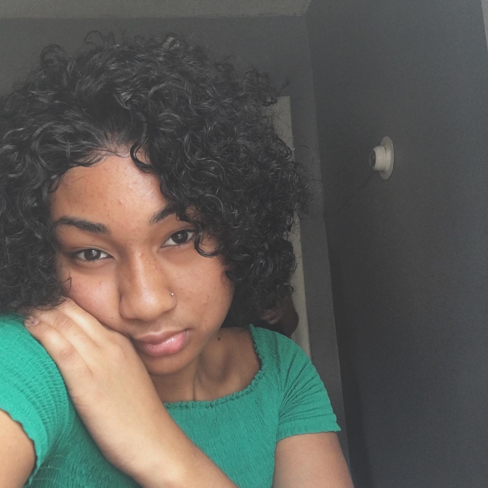 Curly short summer bob