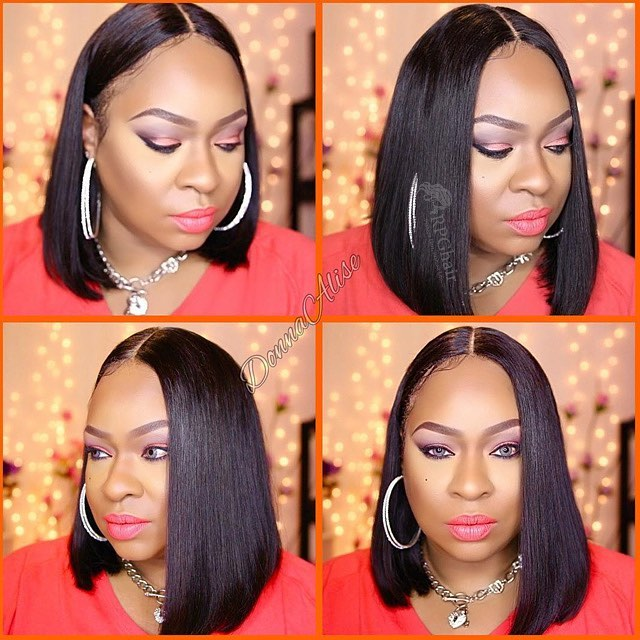 Affordable BOB hairstyle silky straight hair