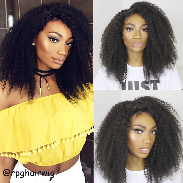 Curly hairstyle lace front wig
